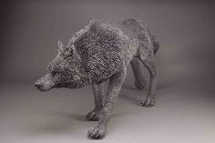 The She-Wolf by Mary Taylor ArtSpecifier: Linking artists with designers, architects, art consultants and art lovers worldwide. Wolf Sculpture, Wire Art Sculpture, Driftwood Sculpture, Animal Sculptures, Wire Sculptures, Sculpture Ideas, Chicken Wire Art, Chicken Wire Sculpture, Quirky Art