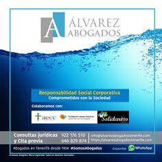 Responsabilidad Social Corporativa: Comprometidos con la Sociedad. Colaboramos con AECC, Fundación Josep Carreras y Solidarios Canarios. Visite nuestra RSC: https://alvarezabogadostenerife.com/?p=12120 #RSC #SomosAbogados #Abogados #Tenerife