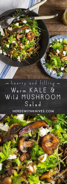 Warm Kale And Caramelized Wild Mushroom Salad