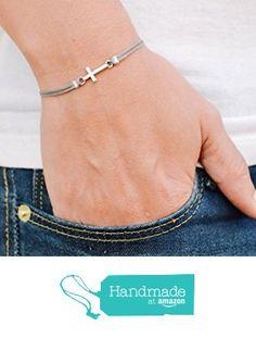 Cross bracelet, women bracelet with silver cross charm, christian catholic… Christian Bracelets, Christian Jewelry, Catholic Jewelry, Bracelets For Men, Cross Bracelets, Cool Necklaces, Cristiano, Gifts For Her, Unique Jewelry