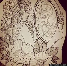 Skeleton in Mirror Drawing - BrownPride.com Photo Gallery (BP)