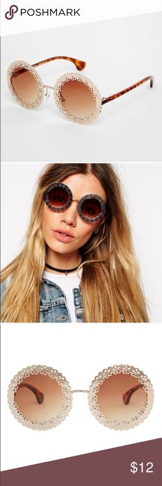 ASOS filigree Roy d sun glasses ASOS filigree round sunglasses super cute! I already have multiple round glasses so you're in luck! ASOS Accessories Sunglasses