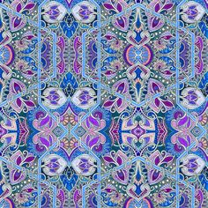Attack of the Mutant Paisley fabric by edsel2084 on Spoonflower - custom fabric