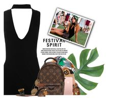 """Festival Spirit"" by hollowpoint-smile ❤ liked on Polyvore featuring Boohoo, Gucci, Dolce&Gabbana, Ray-Ban and Louis Vuitton"