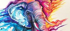 Artist creates Lisa Frank-esque neon animal graphics