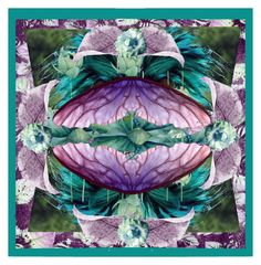 Teal and Purple by sabine-713 on Polyvore featuring Kunst