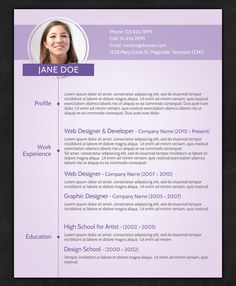 Great CV examples