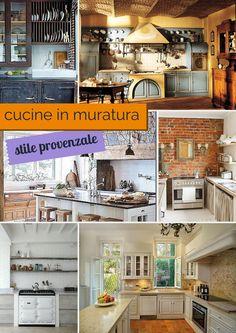 6 #idee per #cucine in #muratura stile #provenzale. #shabby #chic #french #francese #cucina #casa #failacasagiusta
