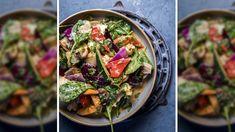 Wok med grønnsaker i rød curry og kokos