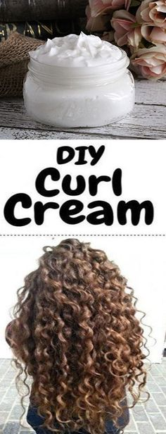 If you have curly or wavy hair, this DIY curl cream recipe will be right up your. - - If you have curly or wavy hair, this DIY curl cream recipe will be right up your alley! Instead of saturating your hair with store bought creams and m. Curly Hair Tips, Curly Hair Care, Natural Hair Care, Curly Hair Styles, Natural Hair Styles, Curly Girl, Style Curly Hair, Diy Short Hair, Long Hair Cuts Wavy