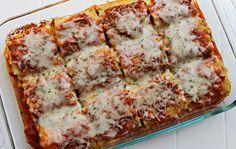 Lasagna Rollups One box lasagna noodles = approx Rollups: Large & small square pyrex Yummy Pasta Recipes, Cooking Recipes, Yummy Food, Delicious Recipes, Dinner Recipes, Lasagna Recipes, Simple Recipes, Unique Recipes, Rice Recipes