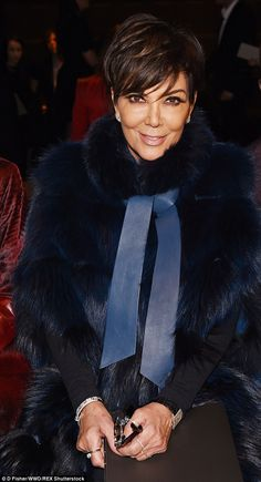 Best seat in the house: Proud mother Kris Jenner sat pretty in the FROW to watch her model daughter strut her stuff