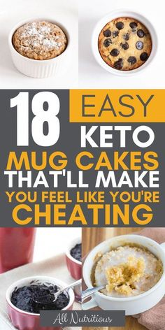 If you& on a look out for low carb dessert recipes, look no further. these keto mug cakes are low carb and truly the keto fat bombs you need. Low Carb Desserts, Low Calorie Recipes, Ketogenic Recipes, Dessert Recipes, Keto Recipes, Ketogenic Diet, Low Calorie Mug Cake, Yam Recipes, Breakfast Recipes