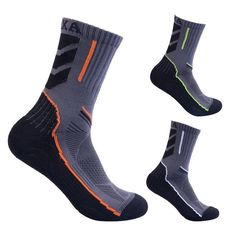 Men High-top Sport Socks Quick Dry Breathable Absorb Sweat Antibacterial for Outdoor Climbing Hiking Cycling Running Skiing Work Boot Socks, Ski Socks, Sport Socks, Socks Men, Walking Socks, Running Socks, Mens Hiking Boots, Socks For Sale, Summer Boots