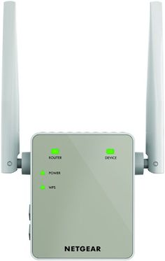 NETGEAR 11AC 1200 Mbps (300 Mbps + 900 Mbps) Dual Band Wi-Fi Range Extender with External Antennas (Wi-Fi Booster) (EX6120-100UKS)