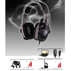 (37.78$)  Buy here - http://aipa1.worlditems.win/all/product.php?id=32598301288 - New 3 in 1 SADES SA-922 7.1 Stereo Gaming Headset Headphone For PC/PS3/XBOX W/ Mic NEW