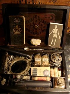 "Wicked Occult Travel Kit...yes this is something I'd probably keep on display year round if I ever had a ""reading room"""