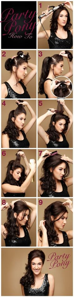 Cute going out to a party or wedding hairstyle
