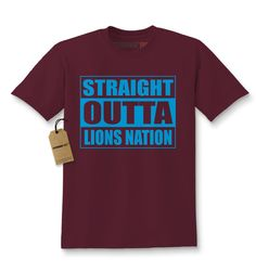 Straight Outta Lions Nation Football Kids T-shirt