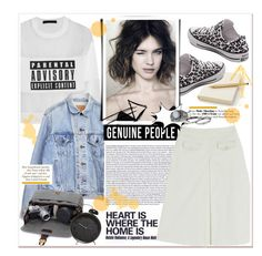 Genuine People - Cut out Skirt White Denim Skirt, Miss Selfridge, Alexander Wang, Clothes For Women, Female, Womens Fashion, Polyvore Fashion, Skirts, Women's Clothing