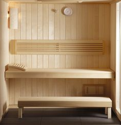 Thanks to pre-assembled technology and standard plug connection, the KLAFS EASY Sauna can be set up in any room by yourself in just a few hours.