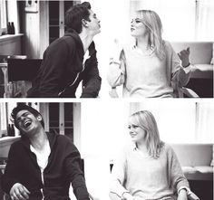 Andrew Garfield e Emma Stone.