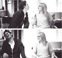 love them. andrew garfield and emma stone