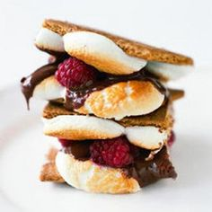 MMMM... get some local raspberries into your summer camp experience!!!  Raspberry SMores