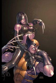X-23 vs Wolverine by Mike Choi #XMen #XForce #Mutants