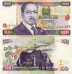 100 Shilling 1997 Republic of Kenya Nairobi City, Postage Stamps, Childhood Memories, Cool Art, The 100, African, History, World, Design
