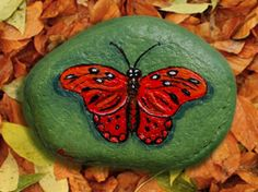 Red Butterfly - Rock Painting by Annamoon77 on DeviantArt