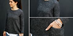 Вязаный спицами сверху вниз свободный пуловер Granito с большими карманами. Базовый пуловер Granito свободного покроя и с большими боковыми карманами связан из шерсти мериноса благородного серого оттенка. Модель идеально подойдет как для отдыха, так и для занятий спортом.