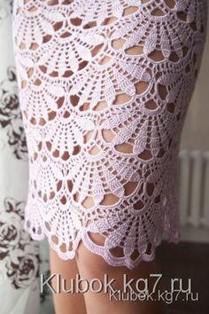 Вяжем платье Снежанны Сухомлиновой