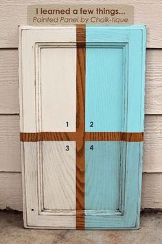 Easy step by step tutorial to paint cabinets using Chalk-tique