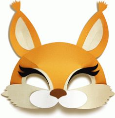 I uploaded new cut files to Silhouette Design Store - masks, boxes and Easter themed cut files. Squirrel Mask, Squirrel Costume, Animal Masks For Kids, Mask For Kids, Stitch Box, Printable Masks, 3d Paper, Diy Mask, Art Plastique