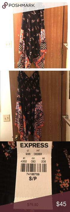 Fun express dress Long dress from express that has never been worn. Tags are still attached. Express Dresses Maxi