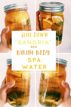 """The SUPER slimdown drink. Loaded with bikini body ingredients: apple cider vinegar, green tea, ginger, citrus and more, this great tasting """"sangria"""" is your new summer slimdown secret!"""