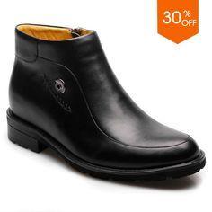 Chamaripa 2.95 inch Calfskin Leather elevator boot for men