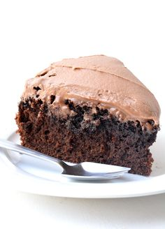 Hands down the BEST Chocolate Mud Cake I've ever had! With a fudgy centre and a creamy milk chocolate frosting, it's the best cake for birthdays or celebrations. Recipe from sweetestmenu.com #cake #mudcake #chocolate #dessert