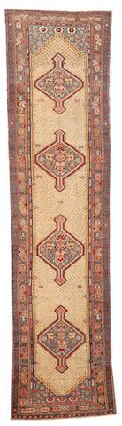 Serab runner  Northwest Persia,  late 19th century  size approximately 3ft. 3in. x 13ft. 7in.