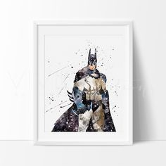 Batman Begins Boys Superhero Nursery Art Print Wall Decor
