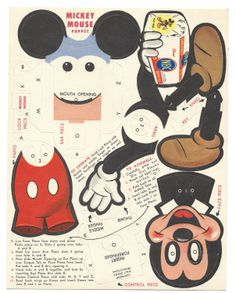Vintage Mickey Mouse puppet