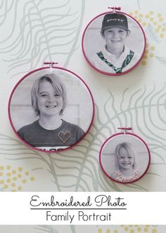 Embroidery Embellished Family Portraits