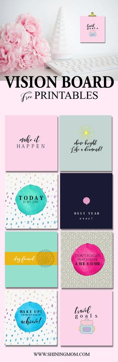 Looking for a way to motivate yourself this brand new year? I have a little gift for you today that will spark your drive to keep moving forward! Have you ever made a vision board? Not yet? It&#821…