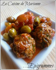 Boulettes de Boeuf Haché Parfums d'orient (FAIT) Easy Healthy Recipes, Meat Recipes, Minced Meat Recipe, Healthy Ground Beef, Tagine Recipes, Delicious Burgers, Yum Yum Chicken, Italian Recipes, Olives