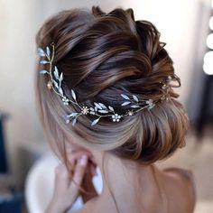 Bridal Hair Vine, Bridal Updo, Wedding Updo, Gold Wedding, Crystal Wedding, Headpiece Wedding, Luxury Wedding, Wedding Tiara Hair, Bridal Hair Combs