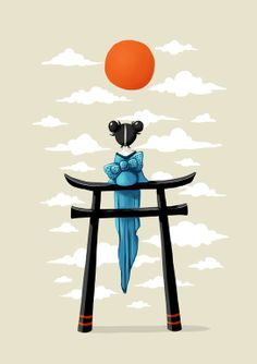 "Saatchi Online Artist: Indrė Bankauskaitė; Painting, Digital ""Torii"" !!!"