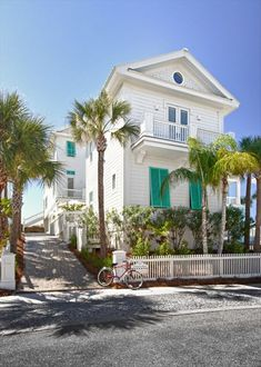 House of Turquoise: Bahama Mama (vacation rental) & Banana Cabana (guest cottage), Carillon Beach, Florida Beach Cottage Style, Coastal Cottage, Coastal Homes, Beach House Decor, Coastal Living, Beach Homes, Coastal Decor, Coastal Bedrooms, House Of Turquoise