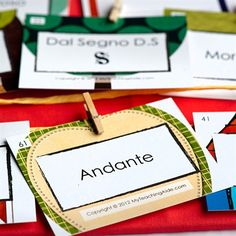 Vocabulary cards - close up photo#1