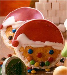 Nikolaus-Gesichter für Kinder Christmas Baking, Cake Pops, Watermelon, Muffins, Xmas, Pudding, Cookies, Fruit, Winter
